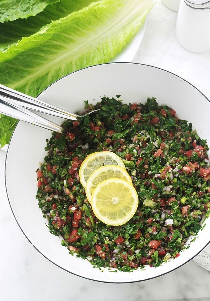 Taboulé traditionnel, recette libanaise rapide - Cuisine ...